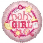 "BABY GIRL BALLOON 18""  19293-18"